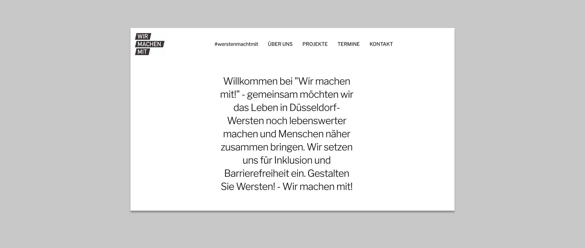 Screenshot der Website von