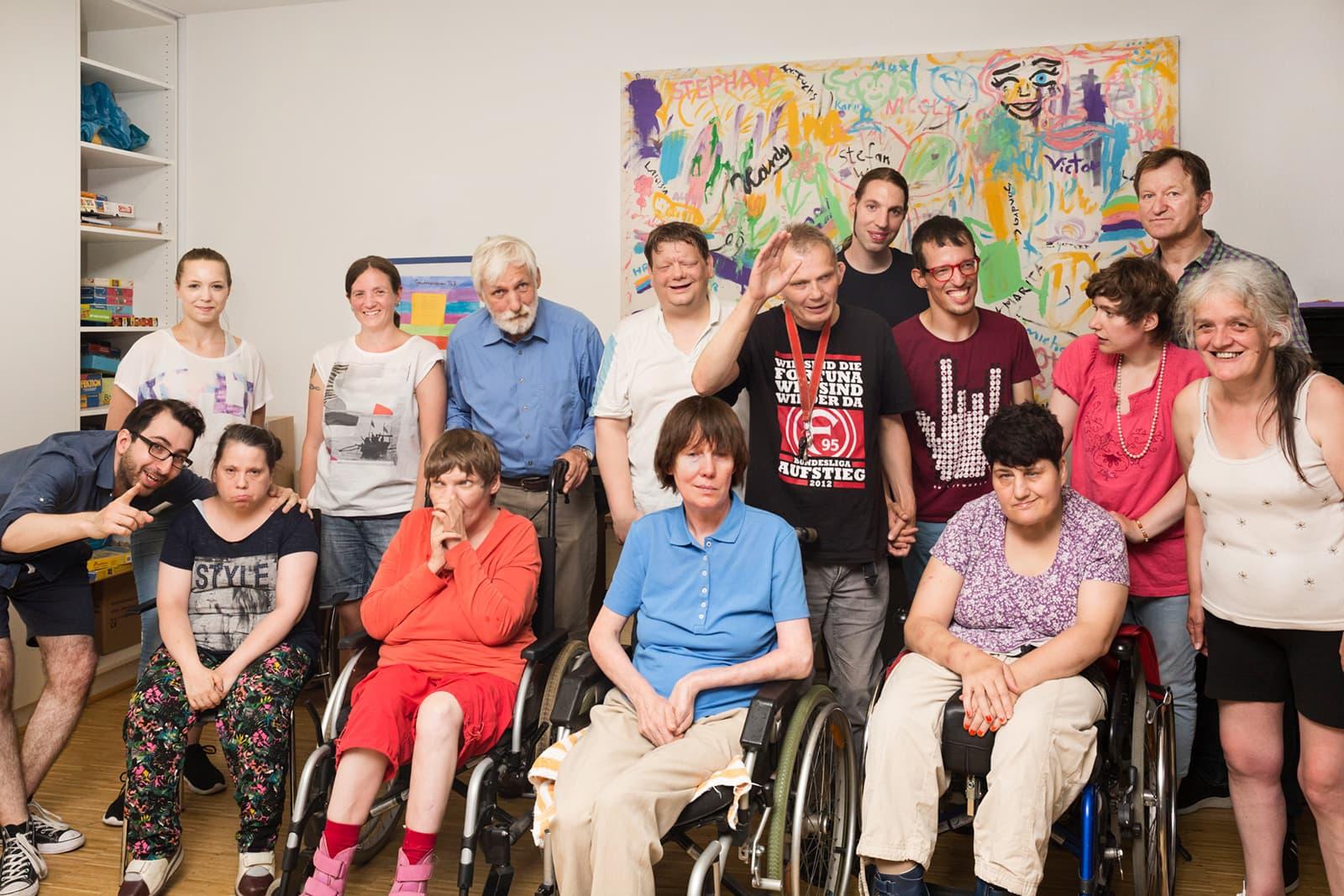Ein Gruppenfoto der Bewohner- und Klientenvertretung